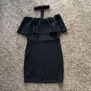 Off the shoulder choker dress